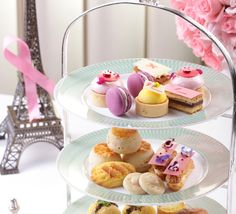 """""""Peninsula In Pink"""" Afternoon Tea In The Lobby - Served daily, tea seatings Monday through Saturday are offered at 2:30 pm and 4:30 pm and on Sundays tea is served between 3:30 pm and 5:00 pm in The Lobby. #PiP"""