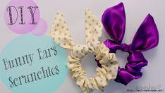 Bunny ears scrunchies