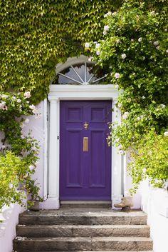 red doors, purple door, blue doors, front doors, bright purple paint, hous, painted doors, colorful doors, purpl door