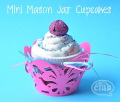 cupcake candy jar from a mini mason jar.