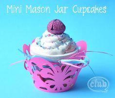 cupcake candy jar from a mini mason jar.