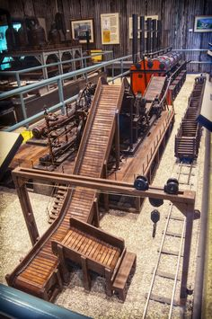 See a 22' hand-crafted working model of a sugar mill that exhibits the process of making raw sugar from sugar cane.