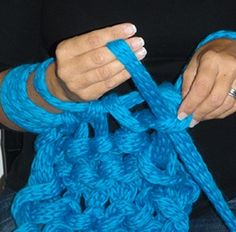 Hand crochet, for that chunky bedspread you want to make
