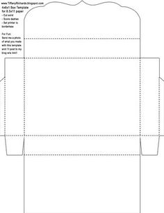 paper box template with lid