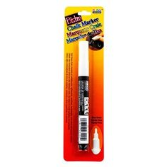 Use this White Bistro Chalk Marker on whiteboards, lightboards, windows, windshields, and other non-porous surfaces!