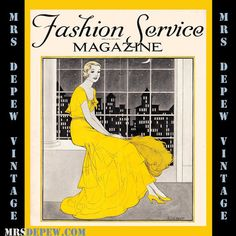 Vintage Sewing Magazine September 1931 Fashion Service Dressmaking Sewing and Fashion Ebook / Miss Depew