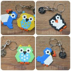 Hama Bead Keyrings - add a trolley coin to make this a super practical gift that kids can make. These are going to our teachers at school!