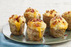 Roasted Garlic Twice-Baked Potatoes recipe