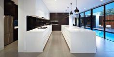 Butlers kitchen, nice lights, nice white kitchen