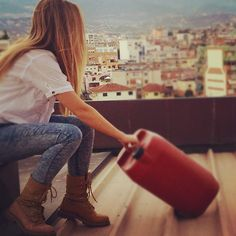 Taking in the view in Timberland style (Instagram photo credit: @anamecaj1998)