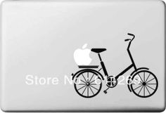 Free Shipping(A bike) Vinyl Decal Protective Laptop Sticker For Apple MacBook Air/Pro Humor skin Art protector(China (Mainland))