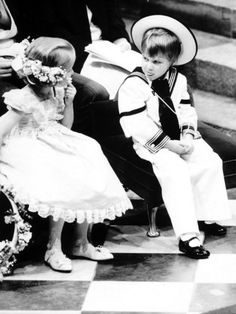 too funny---Prince William at the wedding of the Duke & Duchess of York, 1986...