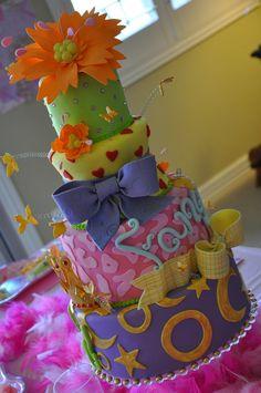 Fancy Nancy Cake by Designer Cakes by April