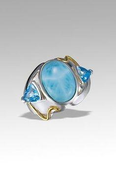 Larimarket - MarahLago Lena Collection Larimar Ring with Blue Topaz, $450.00 (http://www.larimarket.com/marahlago-lena-collection-larimar-ring-with-blue-topaz/)