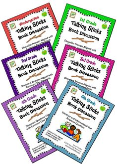 Talking Sticks Book Discussions (aligned with Common Core Standards) - Now available for grades K through 5. $