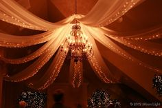 chandelier and lights in fabric wedding lights Moon Light Holiday Lighting
