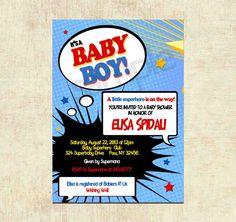 baby shower invitation superhero baby shower invitation digital