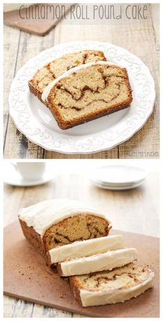 Cinnamon Roll Pound Cake...Everything you love about cinnamon rolls in an easy to bake bread form!