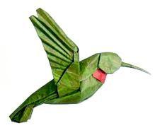LOVE it! origami hummingbird