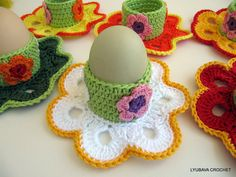 CROCHET EGG HOLDERS 6, Easter Eggs, Easter Decorations, Easter Gift ... www.etsy.com