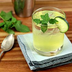 Gin, Cucumber and Mint Cocktail