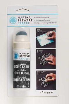 Martha Stewart Crafts ® 2oz Erasable Liquid Chalk, White #marthastewart #marthastewartcrafts #plaidcrafts #diy #crafts