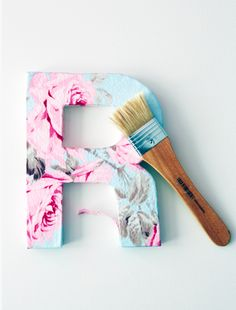 DIY learn how to make fabric letters