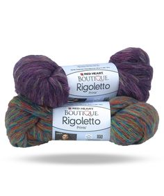 Boutique Rigoletto Prints - Beautiful, romantic swirls form as you knit or crochet this fabulous yarn. Riogletto comes in three varieties: prints, metallic, and sequins. No matter which one you choose, the stylish one-ball scarf will bring compliments!