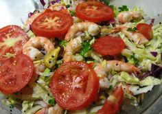 Seafood Salad: Shrimp, Mussels and Cabbage Slaw
