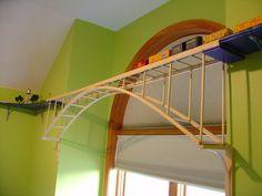 Train around ceiling - bridges!