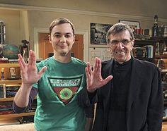 [Leonard Nimoy] On the set Of Big Bang with Jim Parsons !