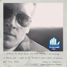 """Reason 96 #ItCanWait: """"I promise to never text and drive because I am building a family and I want to be around to grow, learn, celebrate and love them."""" Take the pledge to never text and drive again at itcanwait.com"""