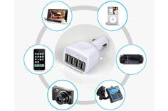 $15 for Quad Port USB Car or Wall Adapter - Shipping Included ($29.99 Value)