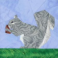 Squirrelly Paper-Pieced Quilt Pattern at Paper Panache