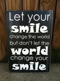 Let Your Smile Change The World  Subway Sign by ExpressionsWallArt, $39.00