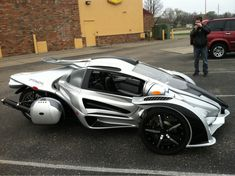 Sick, cool looking vehicle, car, trike, bike, motorcycle!