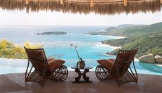 Poolside perch for two in St. Vincent #JetsetterCurator
