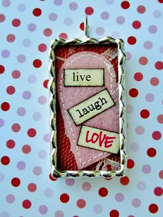 Live Laugh Love Soldered Charm by justcharms on Etsy, $20.00