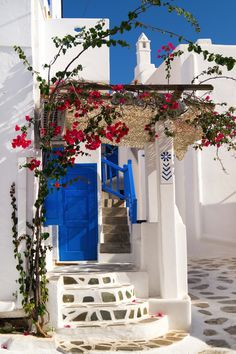 Traditional greek house on Sifnos island, Cyclades, Greece.
