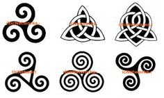 My sisters and I have the first symbol as our matching tattoos.  Symbolizes stages of a woman's life - maiden, mother, crone. And sisterhood! sisterhood tattoos, celtic symbols, celtic motherhood, art, mother symbol tattoo, sister symbol tattoo, motherhood symbols, celtic inspir, sister symbols