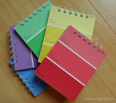 Paint chip notepads, plus other fun paint chip crafts