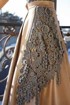 irish crochet | Irish crochet skirt | CROCHET.freeform