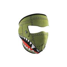 Zan Headgear Bomber Men's Full Face Mask Street Motorcycle Helmet Accessories w/ Free B Heart Sticker - One Size Fits Most
