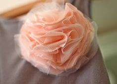 french pouf made from a t shirt and tulle
