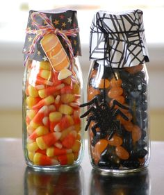 glass jar favors