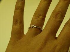 Name Ring. $35.00, via Etsy.  JohnLawrenceCotton product, ring, dogs, etsi obsess, shops, names, polo, mackenzi style, jewelri