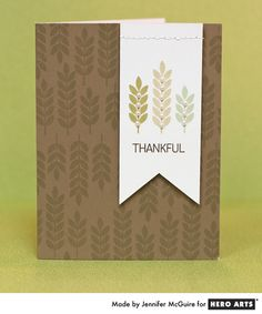 Hero Arts Cardmaking Idea: Thankful