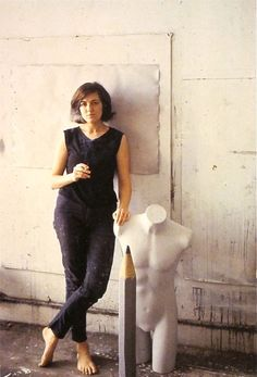 Vija Celmins in her studio.  Venice Beach  1966