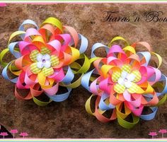 Hair Bow Instructions  Loopy Ribbon Flowers