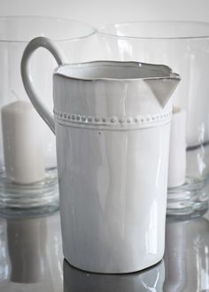 spotted ceramic jug